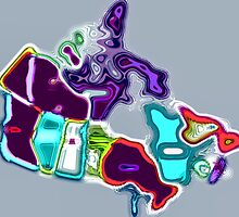 Map of Canada pop art by Eti Reid
