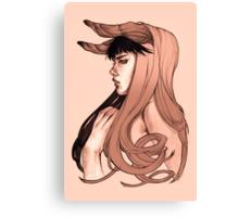 Hair Flow Canvas Print