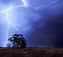 Lightning at Diggers Rest, Victoria, Australia. 01/12/2012 by Russell Knoblock