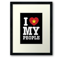 I Heart (Love) My Viet People Framed Print