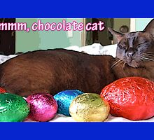 Chocolate Cat Easter by amanda metalcat