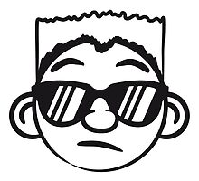 Cool guy sunglasses face smiley by Style-O-Mat