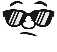 Cool sunglasses guy smiley face by Style-O-Mat