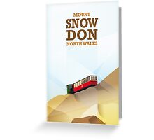 Mount Snowdon, North Wales Greeting Card