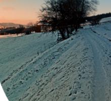 Hiking through winter wonderland | landscape photography Sticker