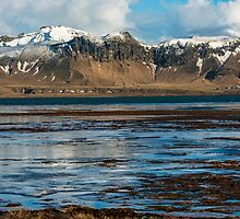 Lagoon beneath Dyrholaey Iceland by Nick Jenkins