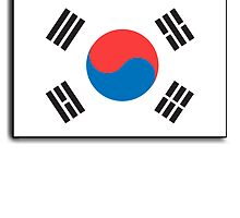 National flag of South Korea Pure & simple by TOM HILL - Designer