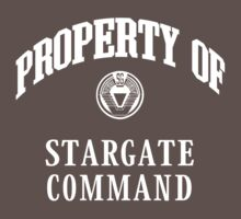 Property of Stargate Command Athletic Wear White ink Kids Clothes