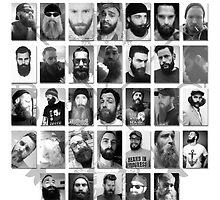 Beard Circus 2014 Member Poster by mijumi