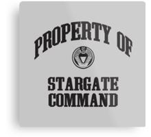 Property of Stargate Command Athletic Wear Black ink Metal Print