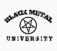 BLACK METAL UNIVERSITY T-SHIRT by Endlessgrief