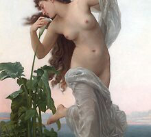 Dawn (Reduction) by William-Adolphe Bouguereau by TilenHrovatic