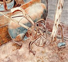 Old Plow by Linda Ginn Art