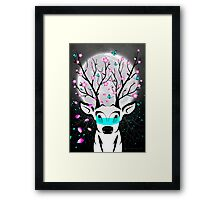 Roots To Grow and Wings To Fly (Cherry Blossom Deer) Framed Print