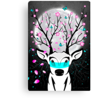 Roots To Grow and Wings To Fly (Cherry Blossom Deer) Canvas Print