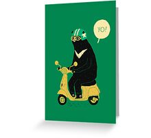 scooter bear Greeting Card