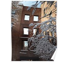 A Wet Snow In Jersey City, New Jersey, Dixon Mills Poster