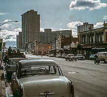 Lygon Street 1963 by Fred Mitchell
