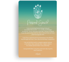 Affirmation - Personal Growth Canvas Print
