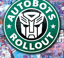 Autobots, coffee break.  by auryan