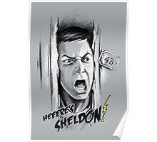 Here's Sheldon Poster