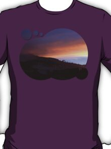 Winter sunrise over the mountains | landscape photography T-Shirt