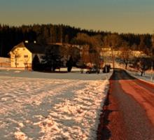 Country road through winter wonderland | landscape photography Sticker