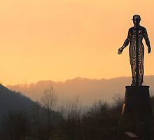 The Guardian Monument to the Six Bells mining disater. by Trevor Durrell