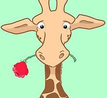 Giraffe and Rose Anniversary Card by Lorna Mulligan