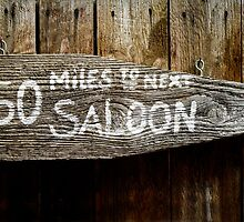 Wild West Saloon Sign by mrdoomits