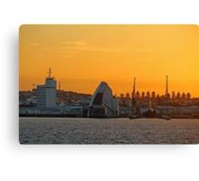 Fremantle Harbour Sunrise Canvas Print