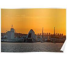 Fremantle Harbour Sunrise Poster