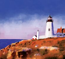 Lighthouse Watercolor by cleo1308me