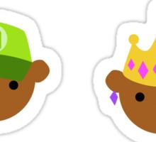 ABC Bears set - M to R - small stickers Sticker