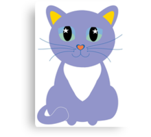 Only Lonely and Blue Cat Canvas Print