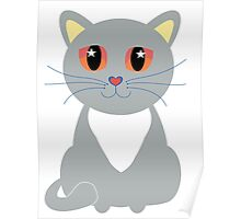 Only One Gray Cat Poster