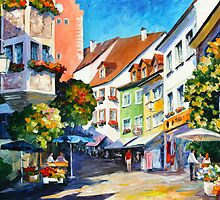 SUNNY MEERSBURG GERMANY by Leonid  Afremov