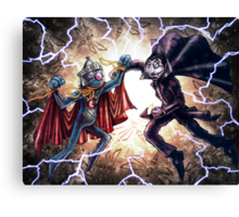 Super Grover vs. The Count Canvas Print