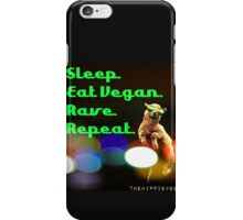 Vegan rave iPhone Case/Skin