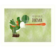 Very Hungry Dinosaur Art Print
