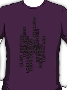 The men of the Avengers - black T-Shirt