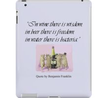 In Wine There Is Wisdom iPad Case/Skin