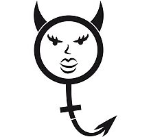 Symbol woman face female girl characters horns tai by Style-O-Mat