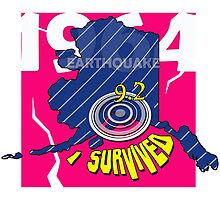 "CRACKED EARTHQUAKE ~ ""I SURVIVED"" by Ed Rosek"