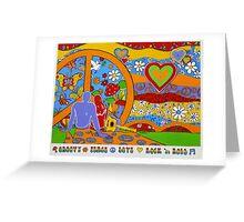 Hippie Reborn Greeting Card