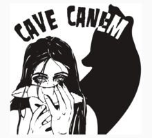 Cave Canem T-Shirt Girl by MirenLeyzaola