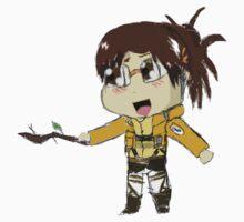 Hanji with a stick chibi type thing sticker by DaGibus