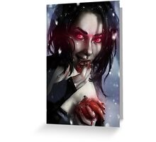 Vampire Valentine Greeting Card