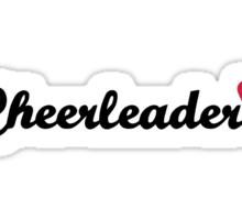 Cheerleader heart Sticker
