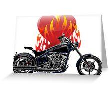 Burning Biker Love Greeting Card